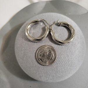 Stainless Steel Thick Hoop Earrings (30mm)